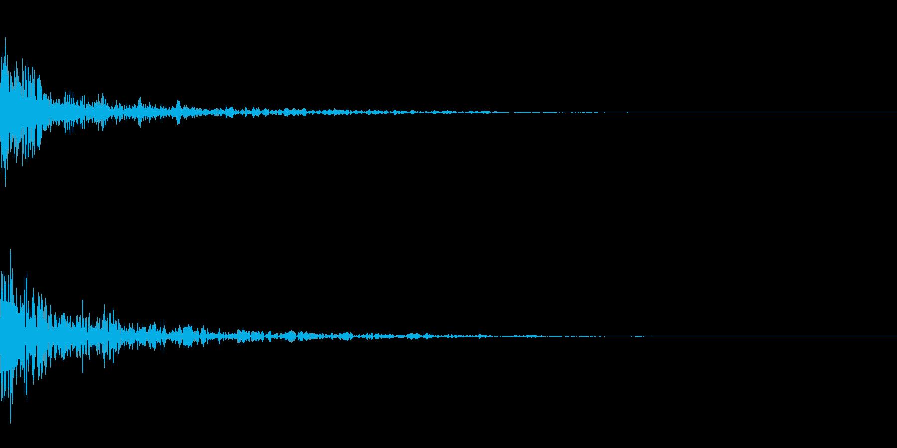 ドーン-37-1(インパクト音)の再生済みの波形