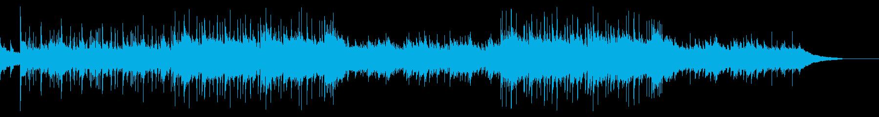 アコギとシタールの穏やかフォークソングAの再生済みの波形