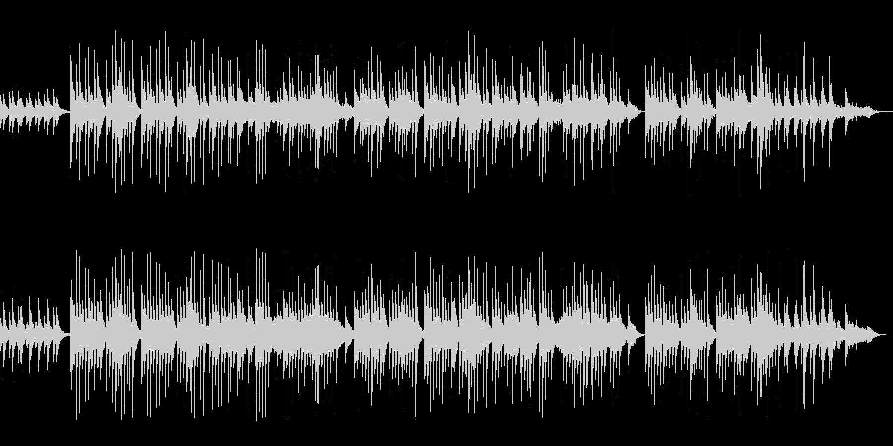 琴とピアノのワルツ曲の未再生の波形