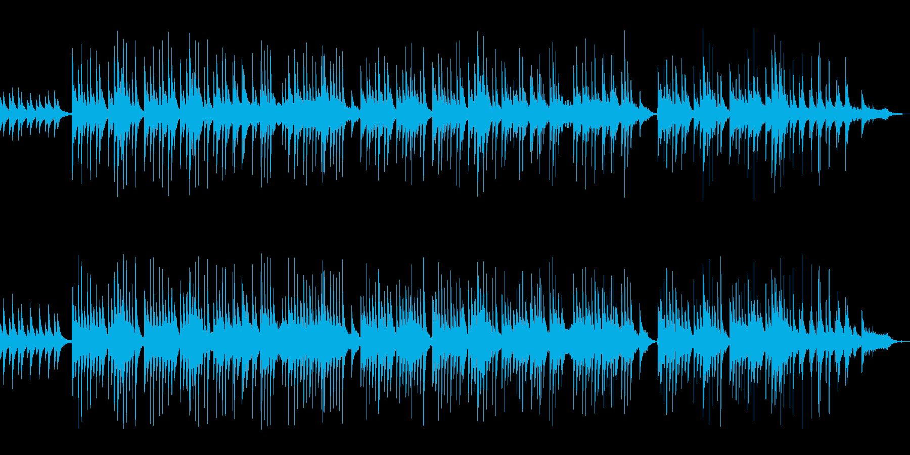 琴とピアノのワルツ曲の再生済みの波形