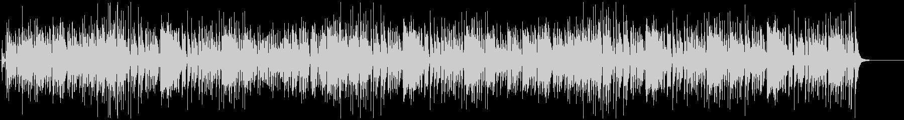 生演奏ジングルベルをスイングジャズカバーの未再生の波形