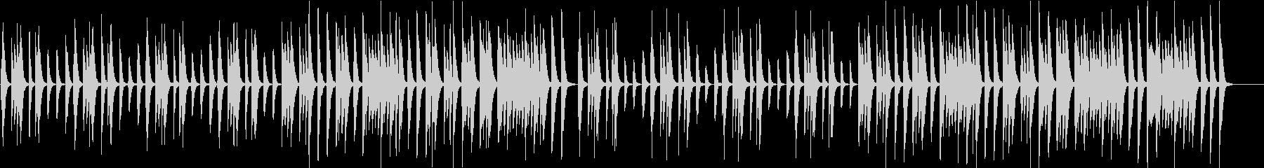 ほのぼのカワイイ子供/動物場面ピアノソロの未再生の波形