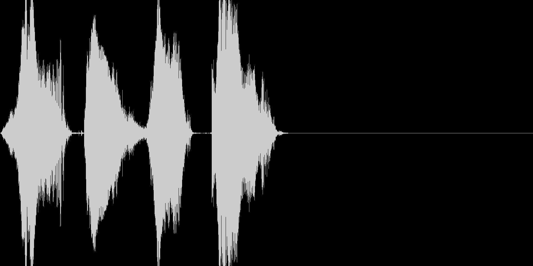 ワンツースリーGO! 140 カウントの未再生の波形