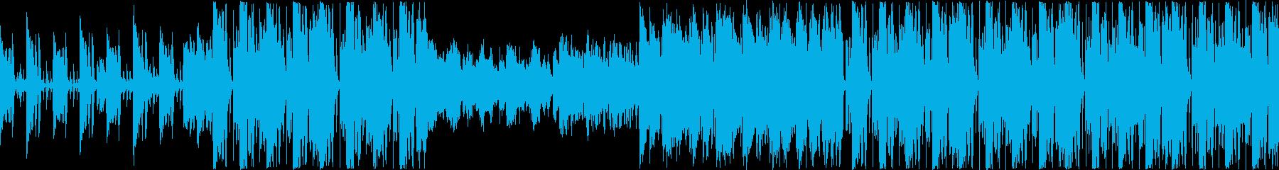 南国風情熱的で軽快なインスト曲ループの再生済みの波形