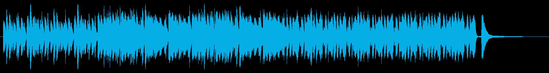 SNS広告 ピアノメイン ハッピーの再生済みの波形