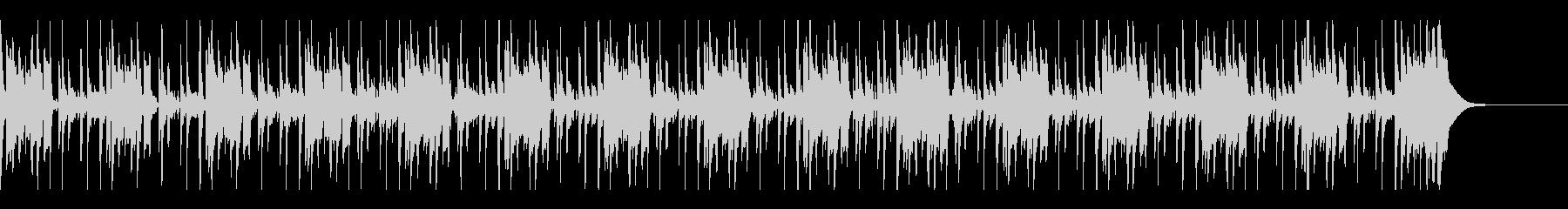 ベース主体の怪しげなコメディ風BGMの未再生の波形