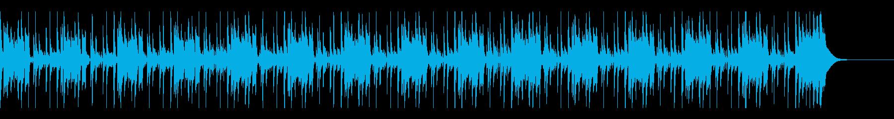 ベース主体の怪しげなコメディ風BGMの再生済みの波形