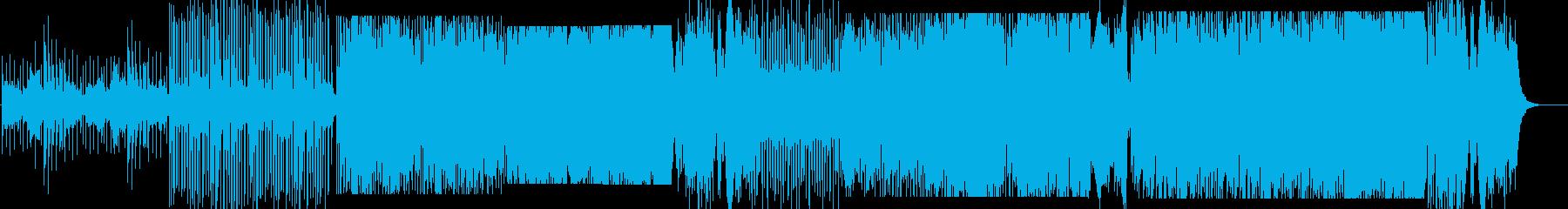 綺麗なテクノとオーケストラの曲の再生済みの波形