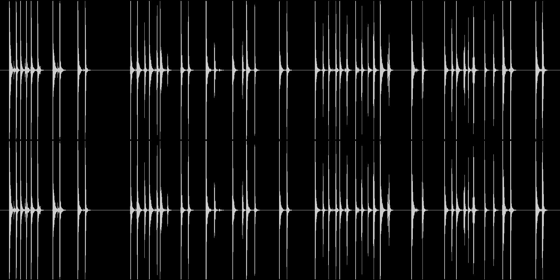 Typing タイピングする音 PCの未再生の波形