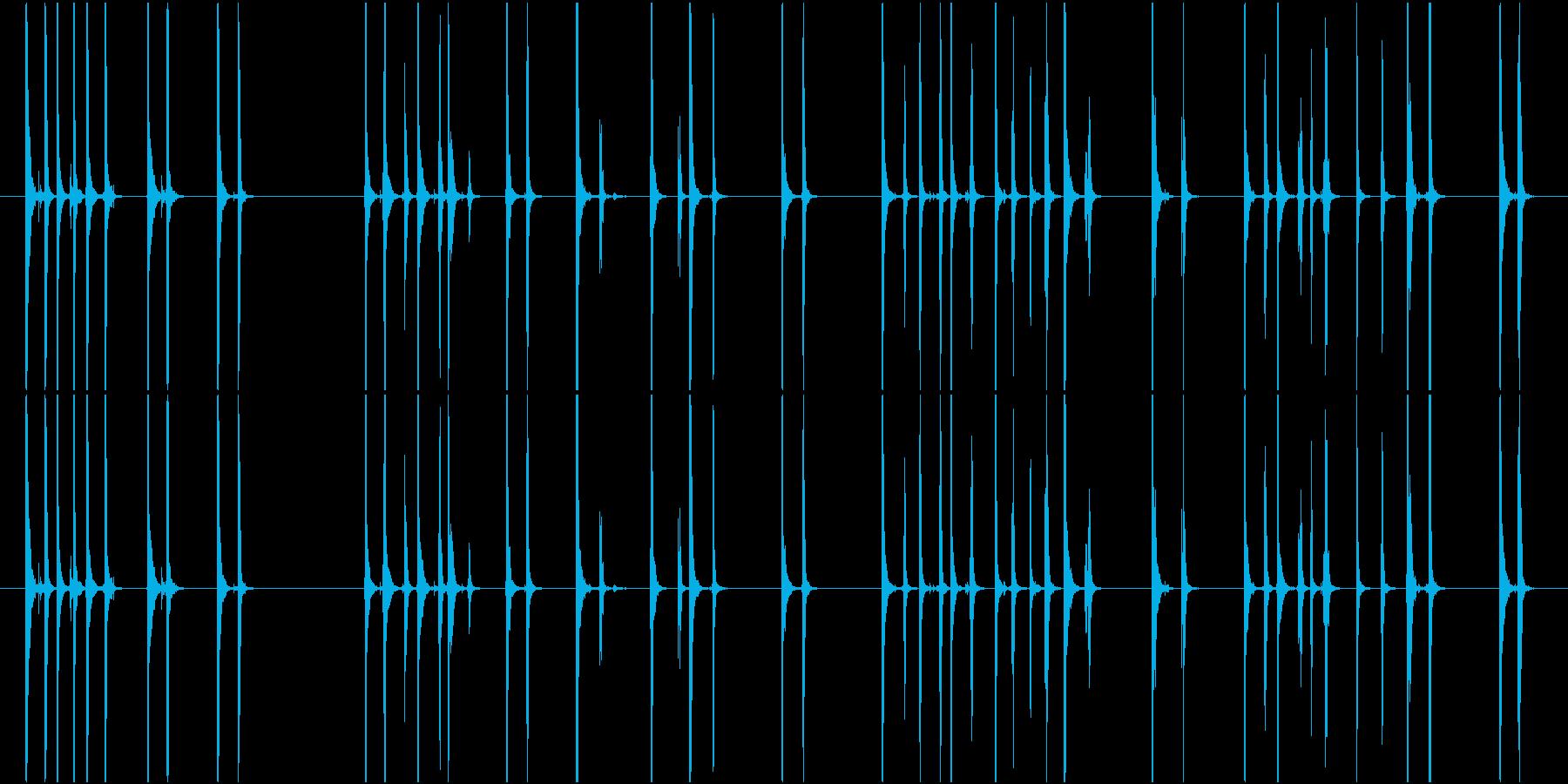 Typing タイピングする音 PCの再生済みの波形