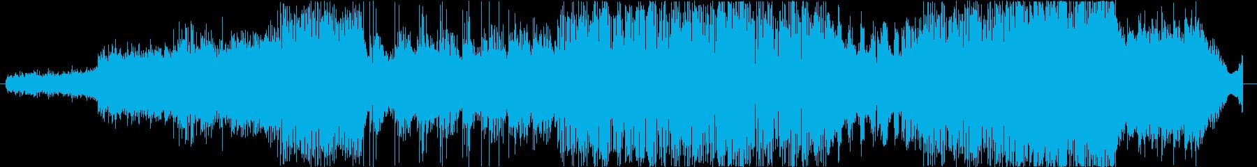 シンセとギターの無重力系フュージョンの再生済みの波形