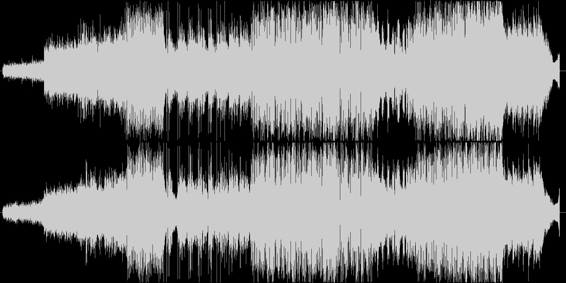 シンセとギターの無重力系フュージョンの未再生の波形