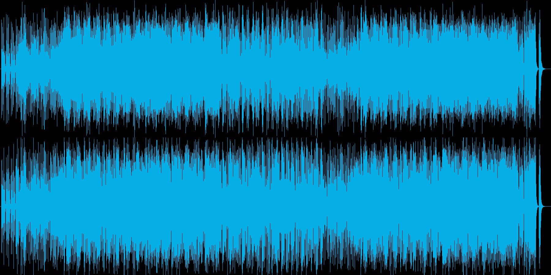 お祭りとハードロックのミクスチャー曲の再生済みの波形