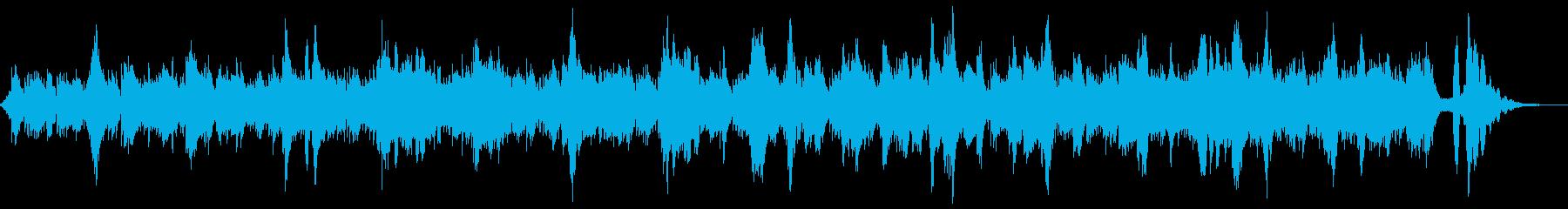 小川のせせらぎのような環境音楽の再生済みの波形
