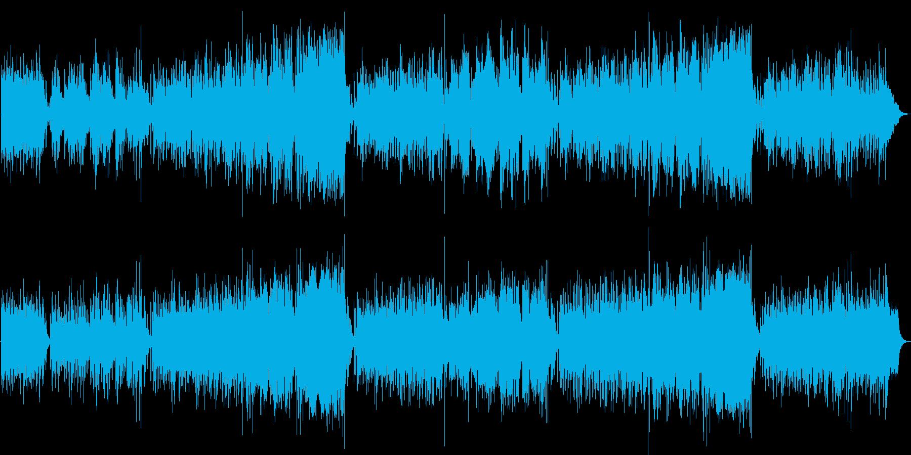 シャンゼリゼ通りを吹き抜ける風のような曲の再生済みの波形