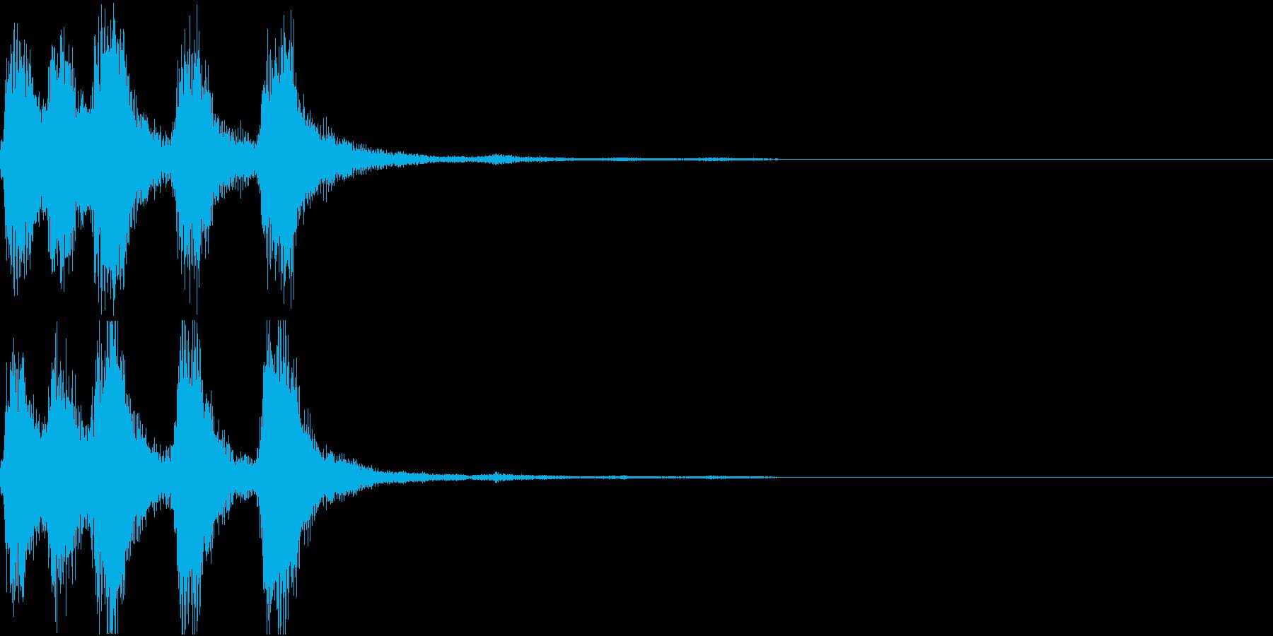 ラッパ ファンファーレ 定番 11の再生済みの波形