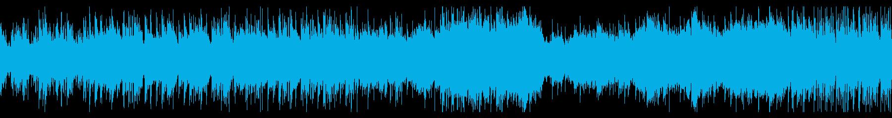 空中都市をイメージした曲(ループ版)の再生済みの波形