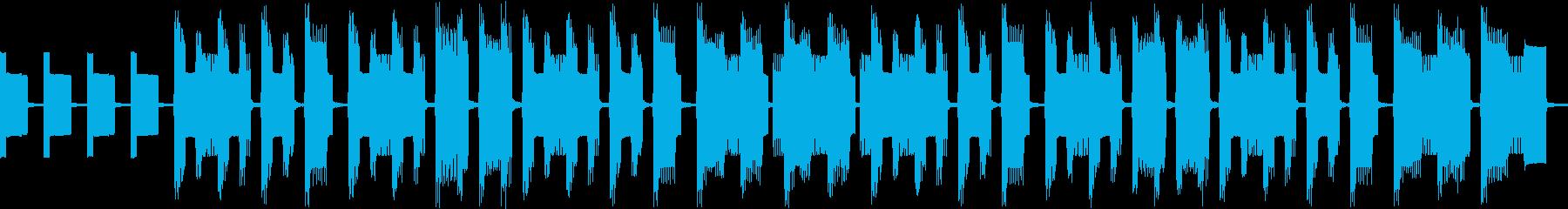 考え中、ヘンテコな雰囲気(ループ仕様)の再生済みの波形