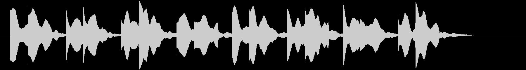 病室で聞こえるビープ音の未再生の波形
