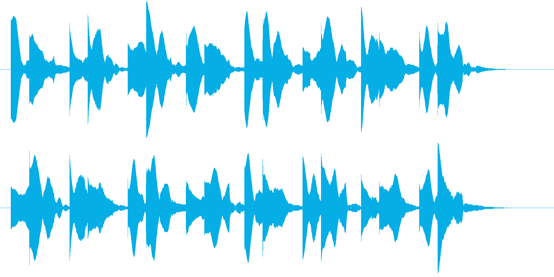 病室で聞こえるビープ音の再生済みの波形