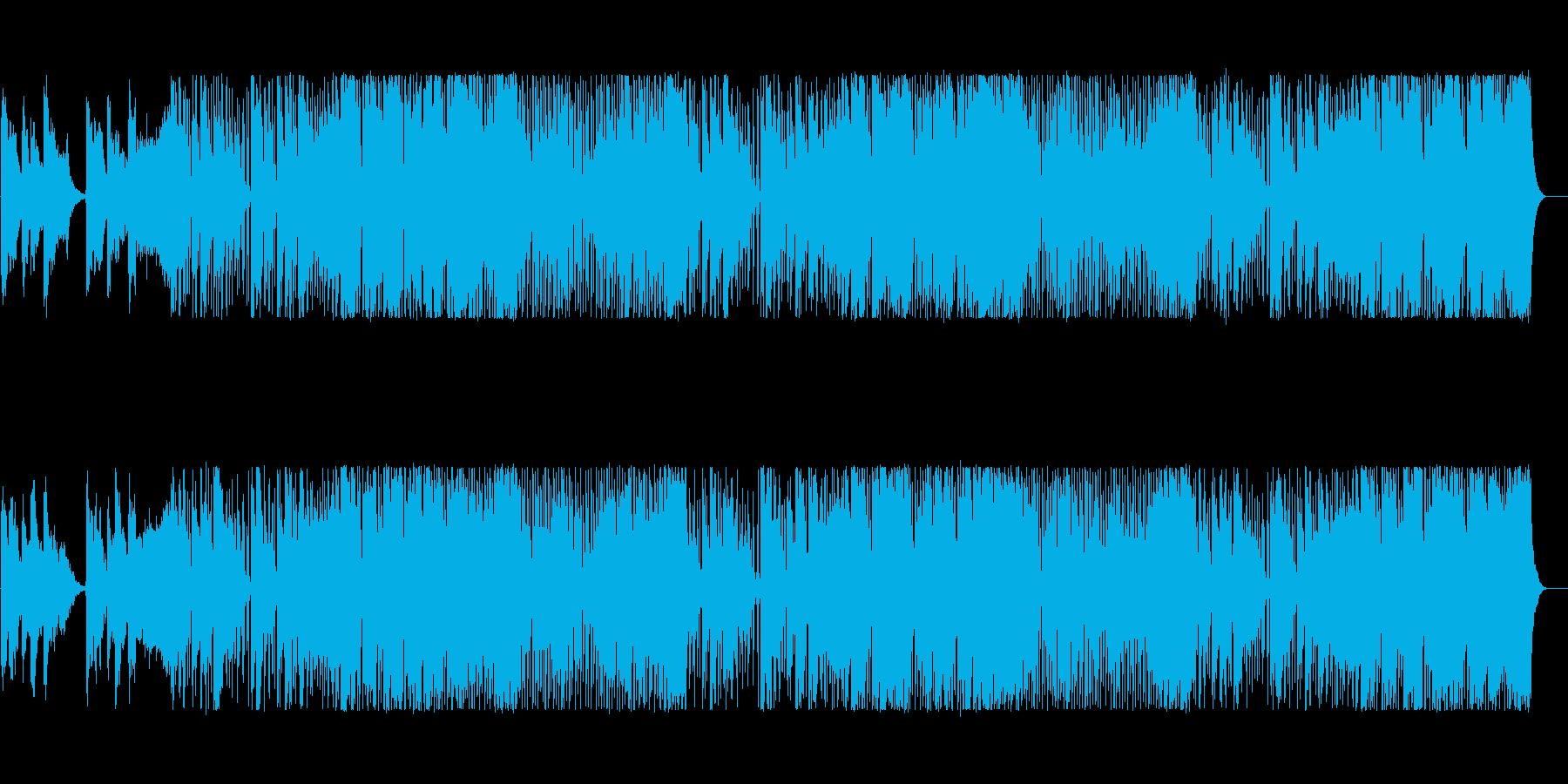 気持ちいいコード感の四つ打ちの再生済みの波形