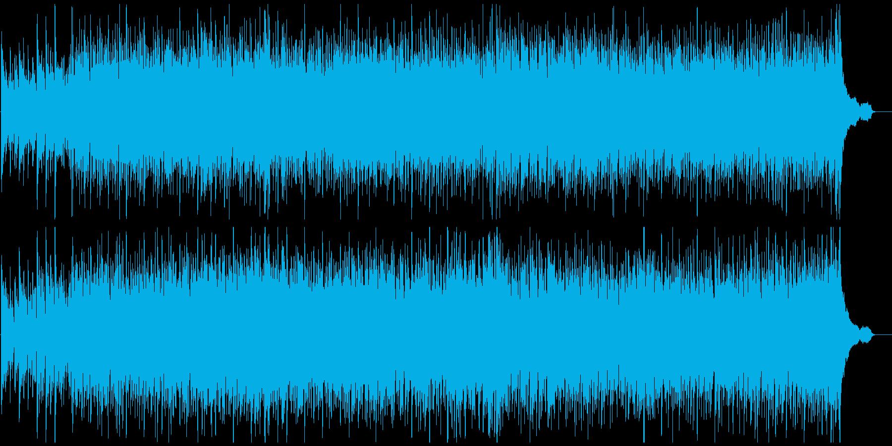 ノリノリで元気な高揚感あふれるウクレレ曲の再生済みの波形