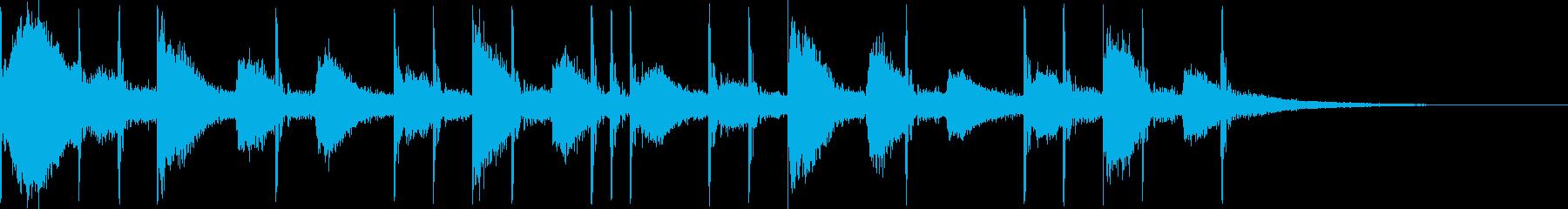 リアルなドラム4ビートです。の再生済みの波形