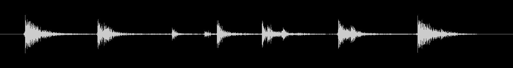 落とす音(カタンの未再生の波形