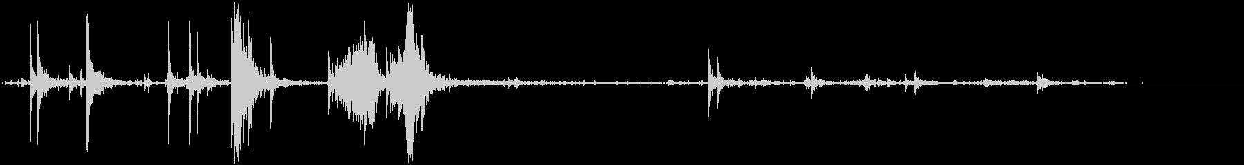 ウッドスプリンターとブレイクの大ヒットの未再生の波形