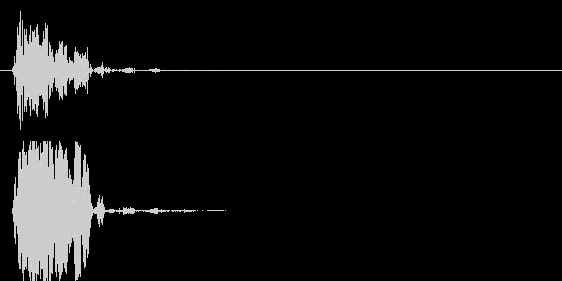 ぶォーン、トゥットゥッ(衝撃波)の未再生の波形