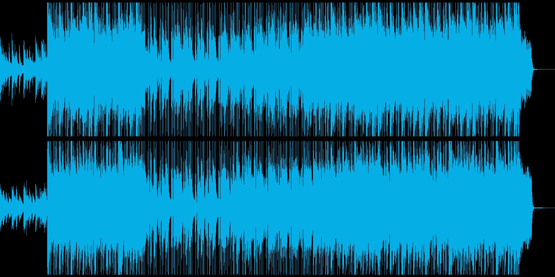 しっとりした雰囲気で印象的なストリングスの再生済みの波形