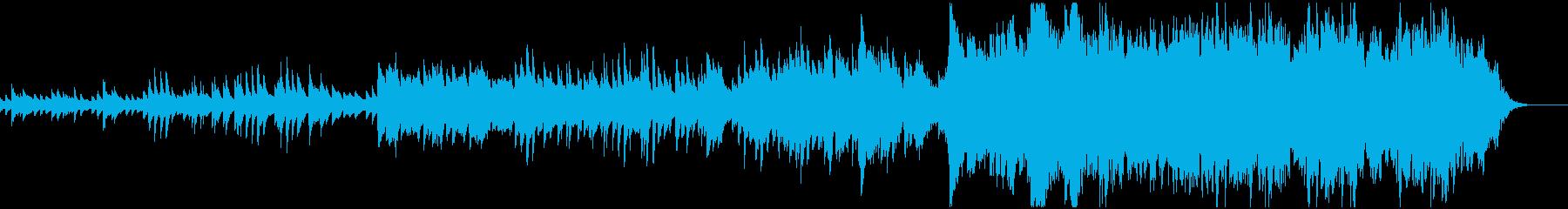 ピアノとストリングスのバラード曲の再生済みの波形