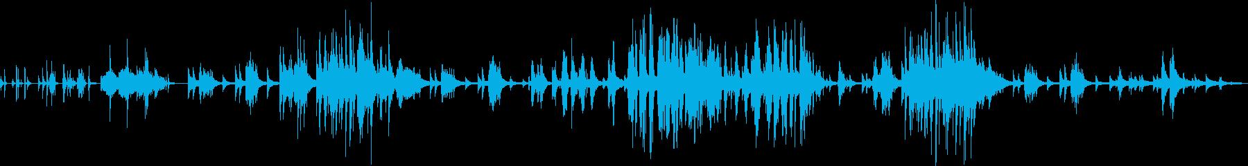 海中のようなリラックスできるピアノソロ曲の再生済みの波形