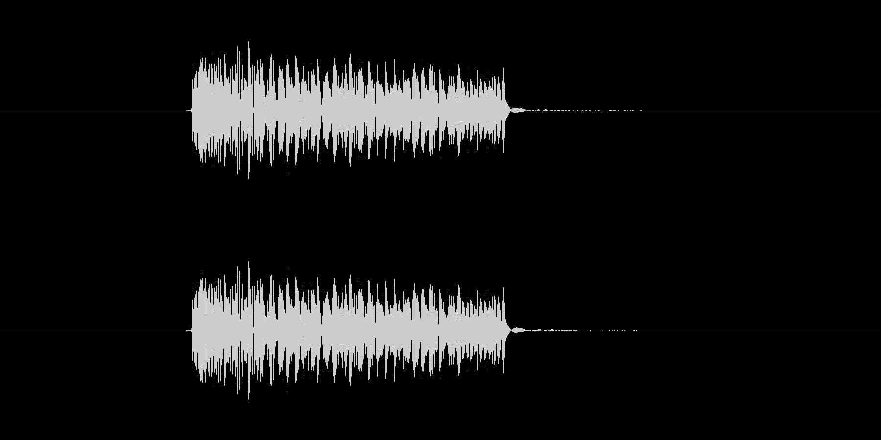 パンチ効果音 打撃 キック つっこみの未再生の波形