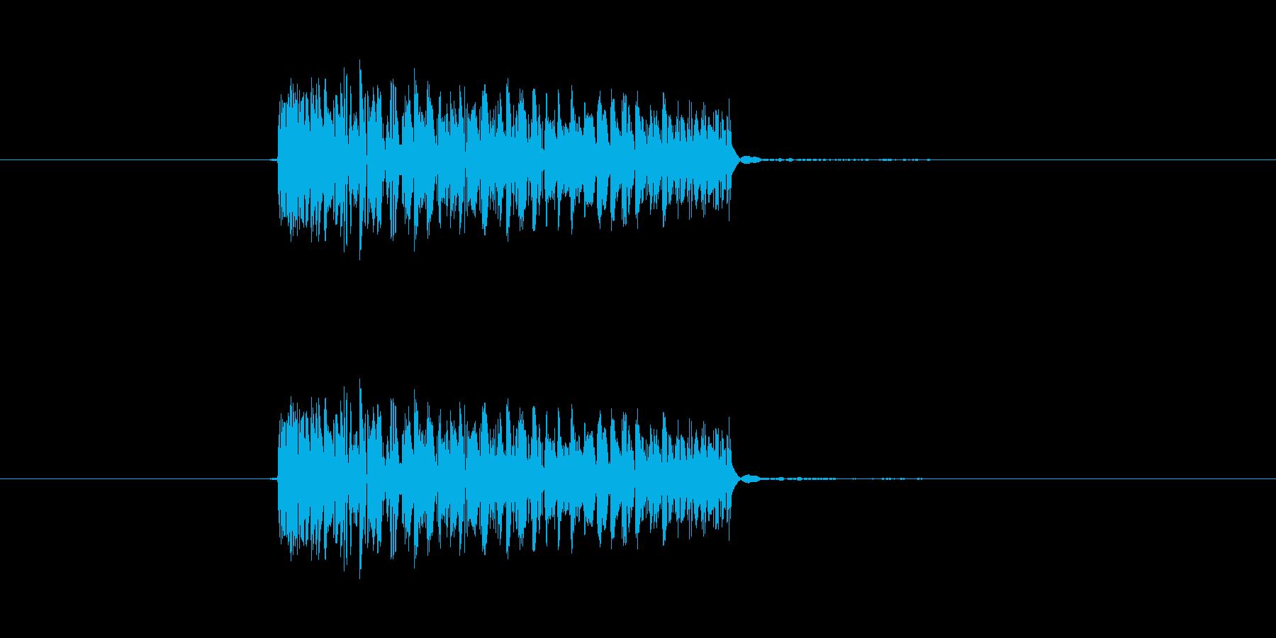 パンチ効果音 打撃 キック つっこみの再生済みの波形