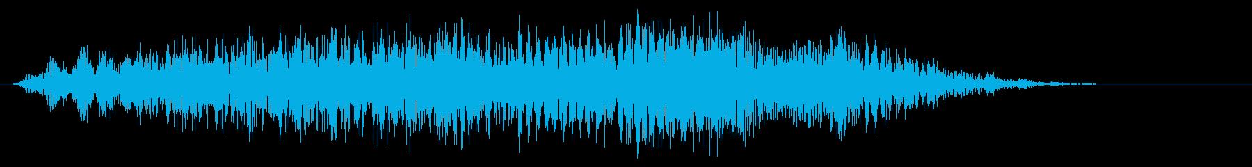 怪物の鳴き声(咆哮)の再生済みの波形