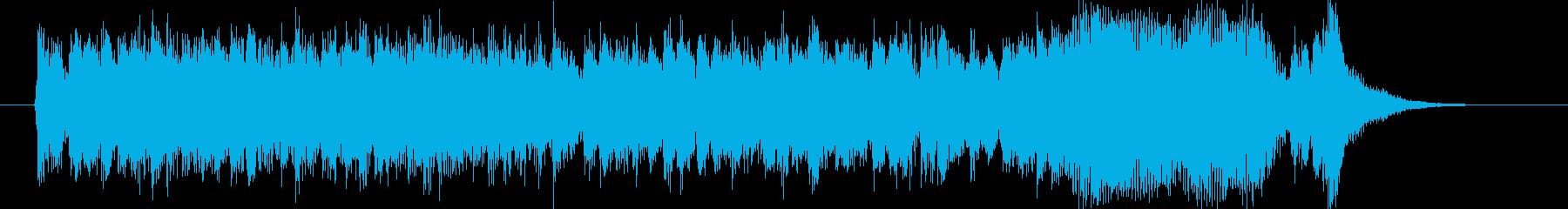 壮大で迫力のあるシンセ打楽器サウンドの再生済みの波形