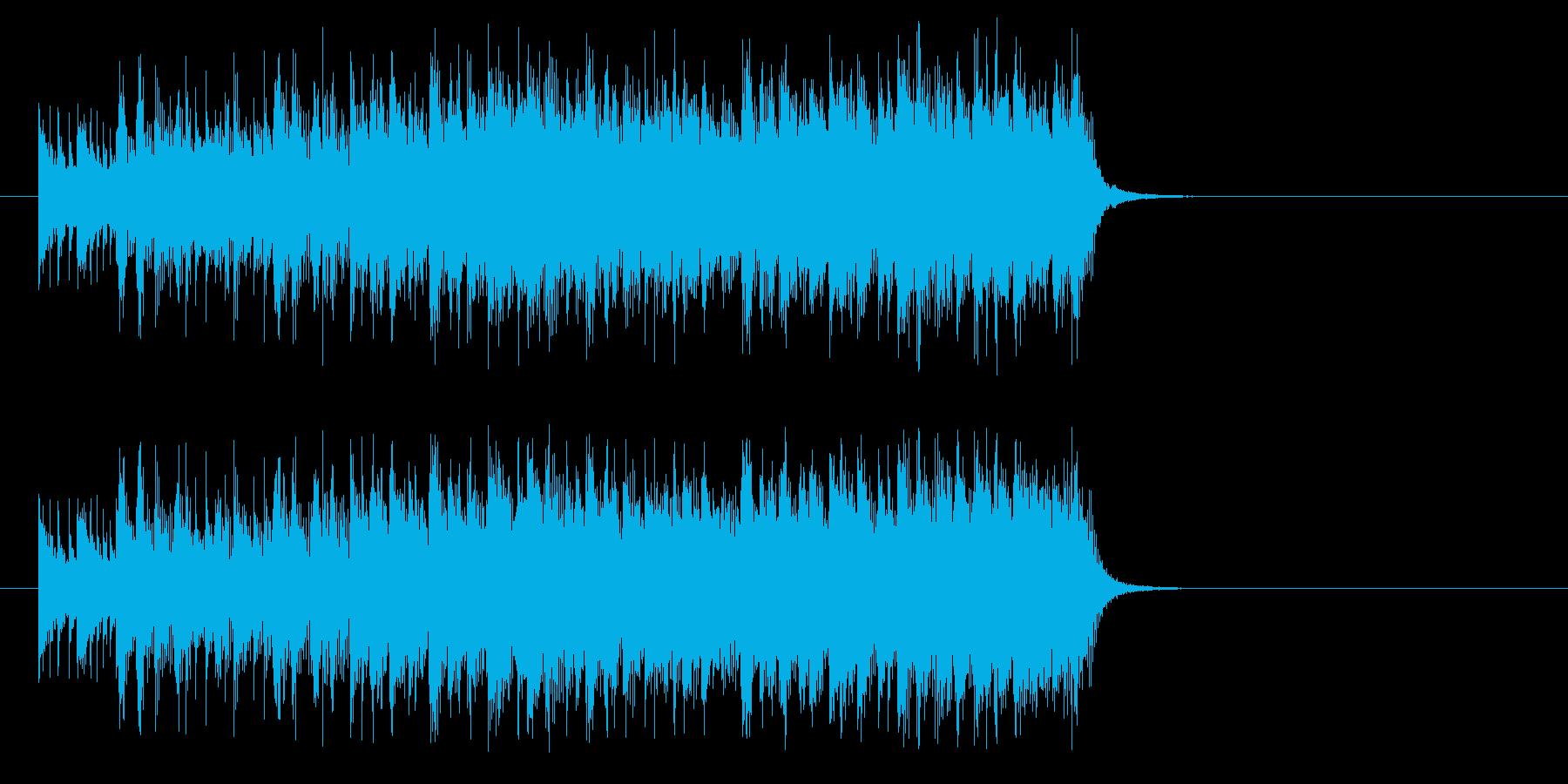 ヒットソング風スマートなホット・ビートの再生済みの波形