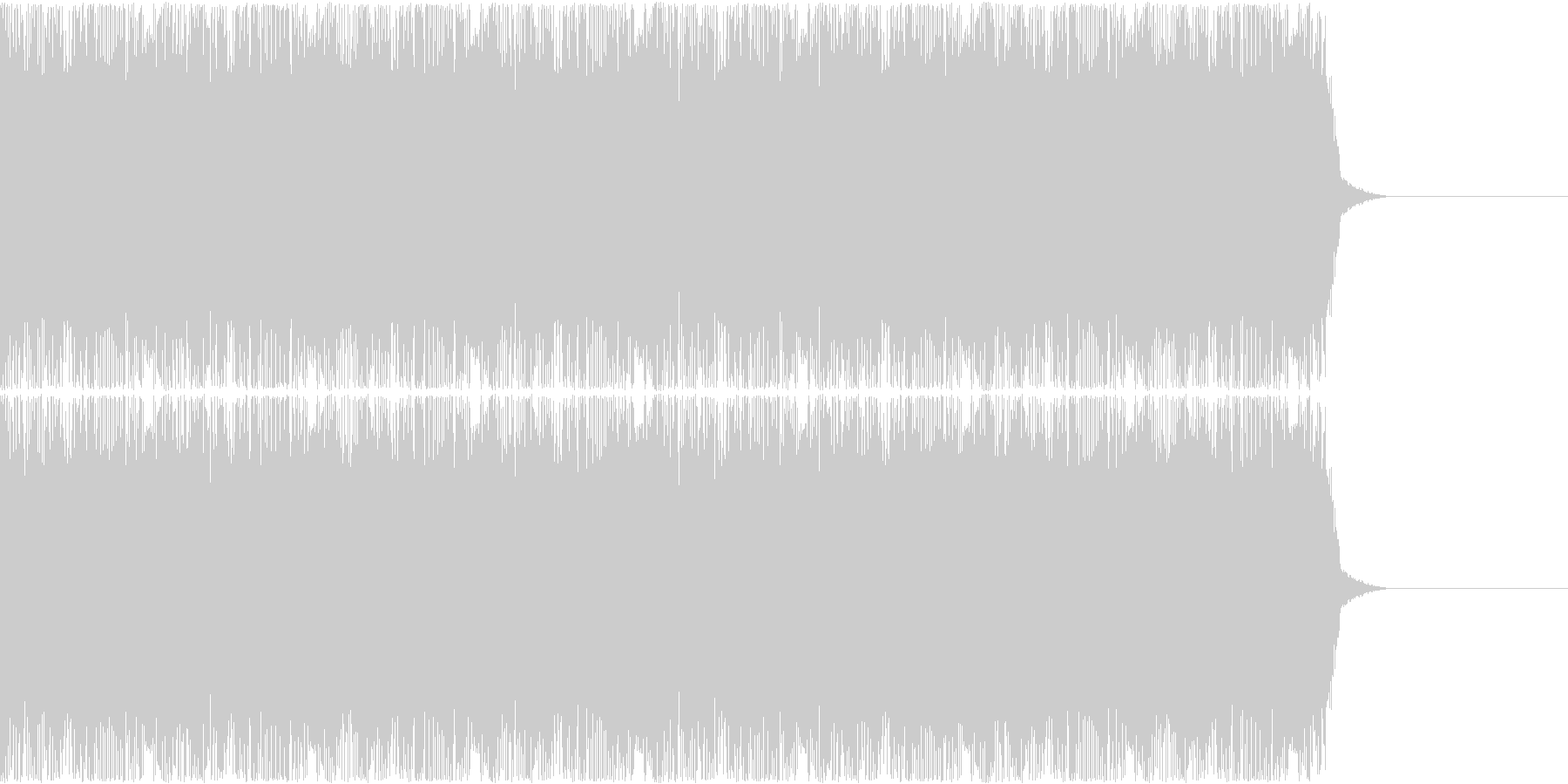 コミカルなゲームのBGM、15秒CM等の未再生の波形