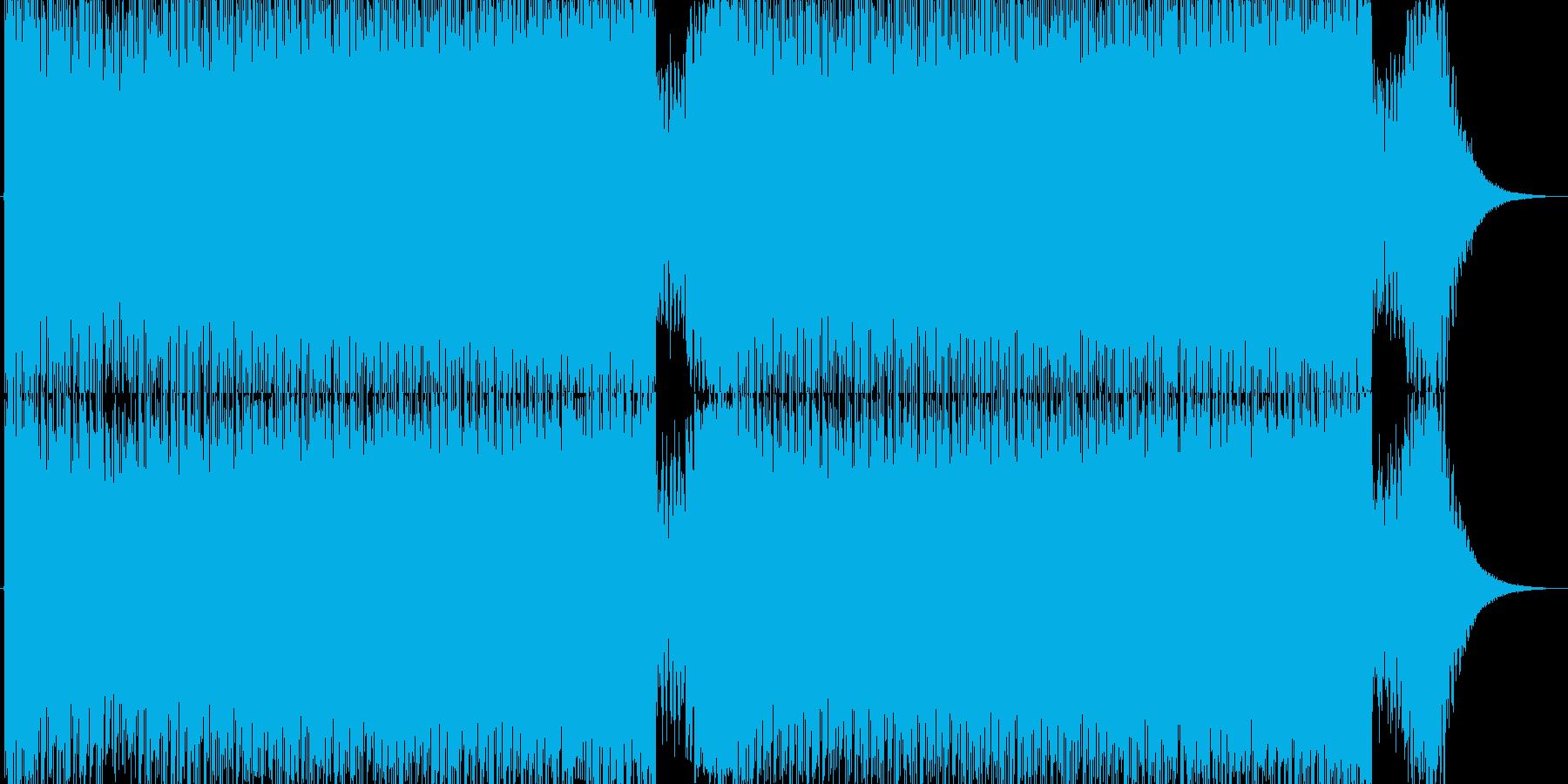 サイバーファンタジーな戦闘BGMの再生済みの波形
