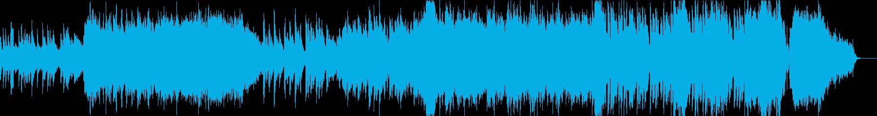 琴の音が印象的な日本的で和風なBGMの再生済みの波形