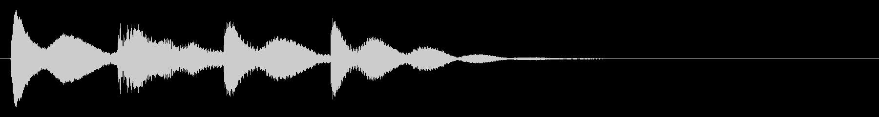 【ティントンティトン】スチールドラムの音の未再生の波形