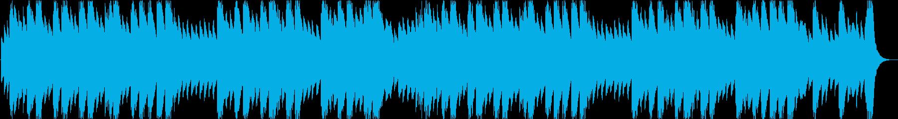 満点の星を眺めているイメージのオルゴールの再生済みの波形