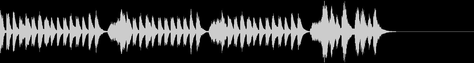 ほのぼのとしたピアノとストリングスの未再生の波形