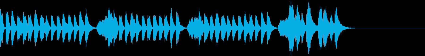 ほのぼのとしたピアノとストリングスの再生済みの波形