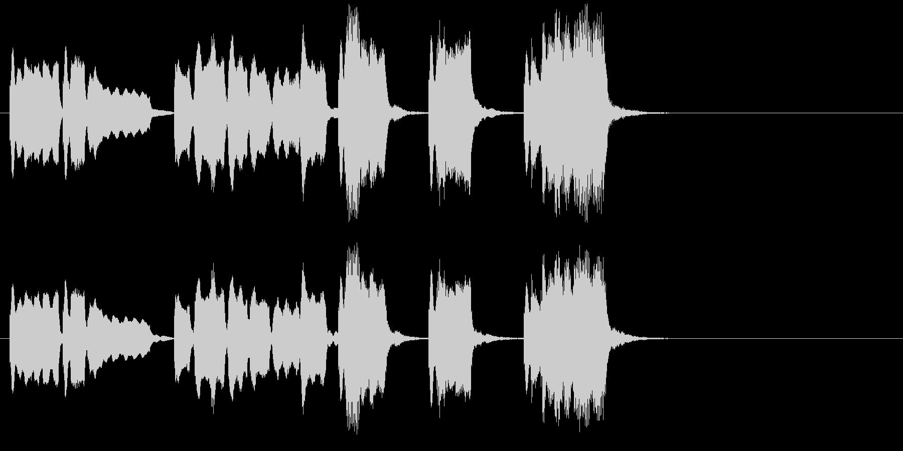 シンプルに切なく響くバイオリンジングルの未再生の波形