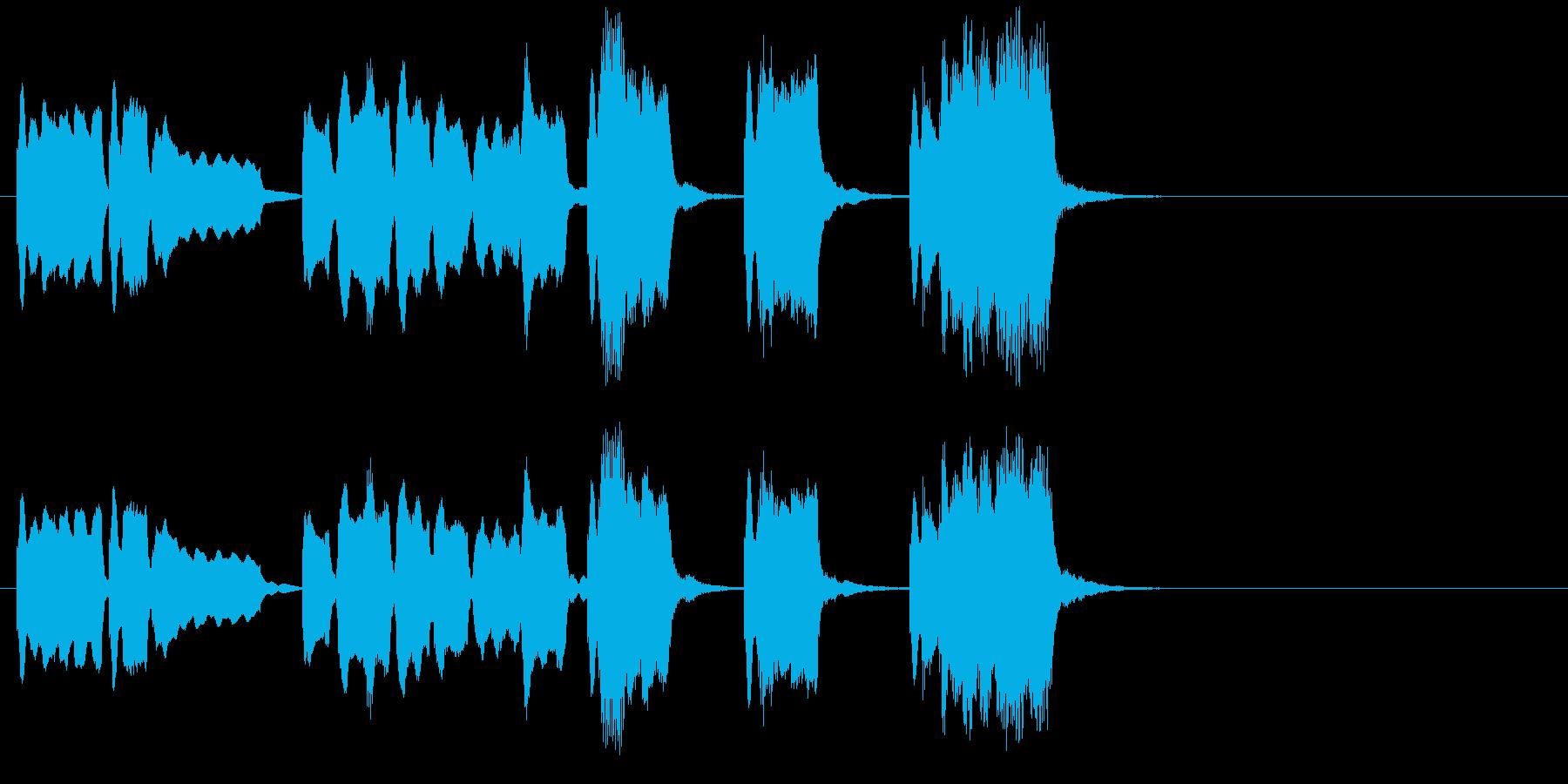 シンプルに切なく響くバイオリンジングルの再生済みの波形
