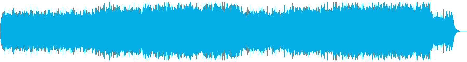 流れるようなヒーリングミュージックの再生済みの波形
