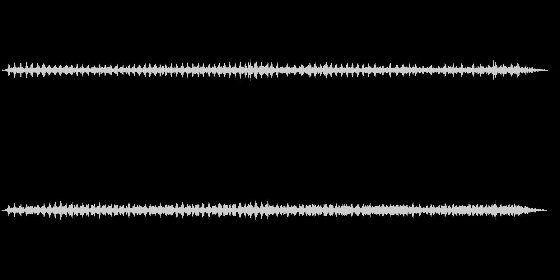 里山の夜 カエルの鳴き声の未再生の波形