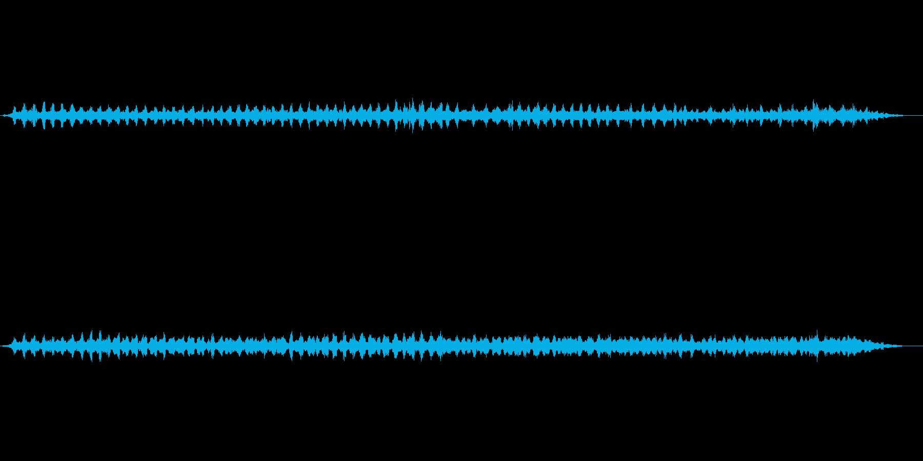 里山の夜 カエルの鳴き声の再生済みの波形